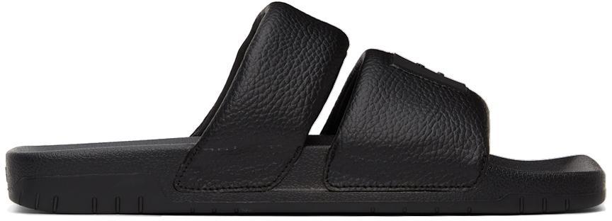 Acne Studios Black Logo Flat Sandals