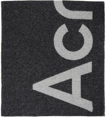 Acne Studios Black Logo Scarf
