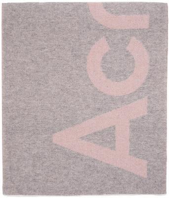 Acne Studios Pink & Grey Logo Scarf