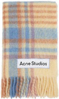 Acne Studios Multicolor Tartan Scarf