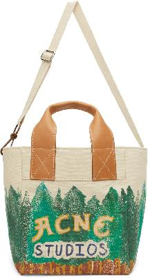 Acne Studios Beige Grant Levy Edition Printed Tote