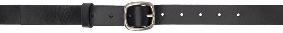 Acne Studios Black Leather Classic Belt