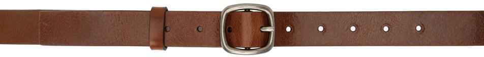 Acne Studios Brown Leather Classic Belt