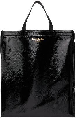 Acne Studios Black Shiny Tote Bag