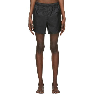Acne Studios Black Nylon Swim Shorts
