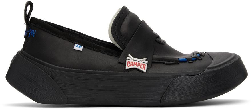 ADER error Black Camper Edition Cinder Penny Loafers