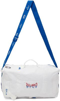 ADER error White Camper Edition Small Logo Duffle Bag