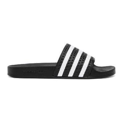 adidas Originals Black and White Adilette Slides