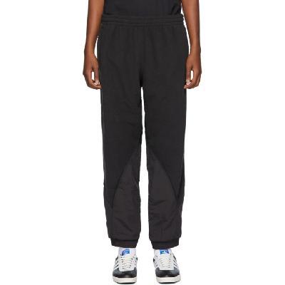 adidas Originals Black Polar Fleece Big Trefoil Lounge Pants
