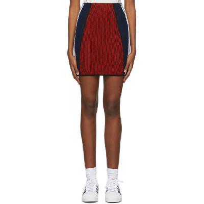 adidas Originals Red Paolina Russo Edition Ribbed Mini Skirt