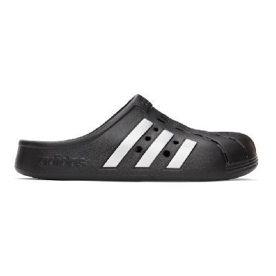 adidas Originals Black Adilette Clog Sandals
