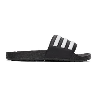 adidas Originals Black & White Adilette Boost Slides