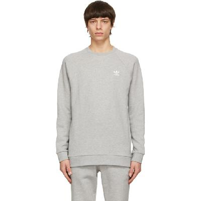 adidas Originals Grey Trefoil Essentials Crewneck Sweatshirt