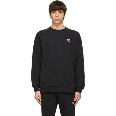 adidas Originals Black Trefoil Essentials Crewneck Sweatshirt