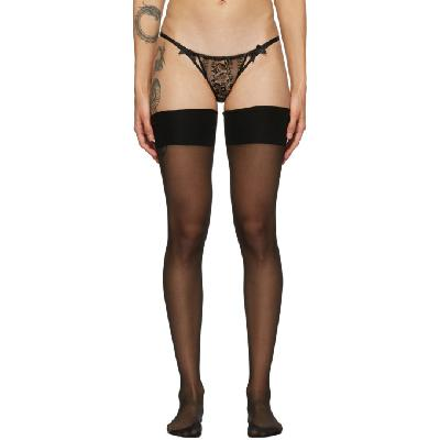 Agent Provocateur Black Amber Stockings
