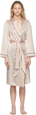 Agent Provocateur Pink Silk Classic PJ Robe