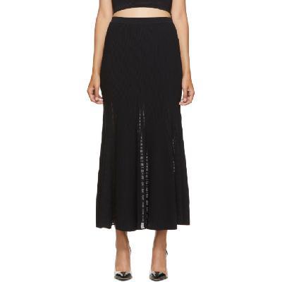Alexander McQueen Black Ottoman Knit Skirt