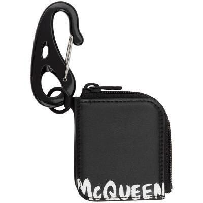 Alexander McQueen Black Logo Keyring Pouch