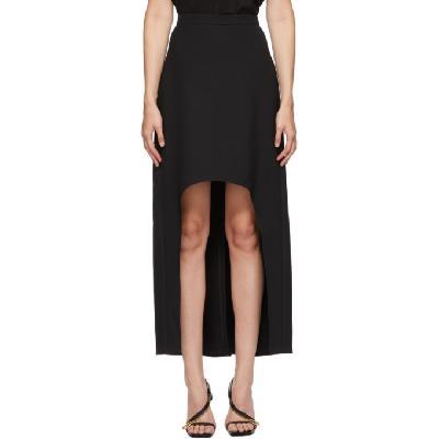 Alexander McQueen Black Wool Tail Skirt