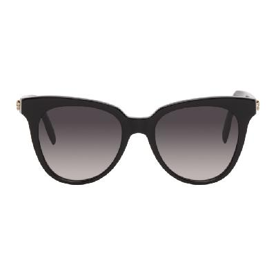 Alexander McQueen Black Acetate Square Sunglasses