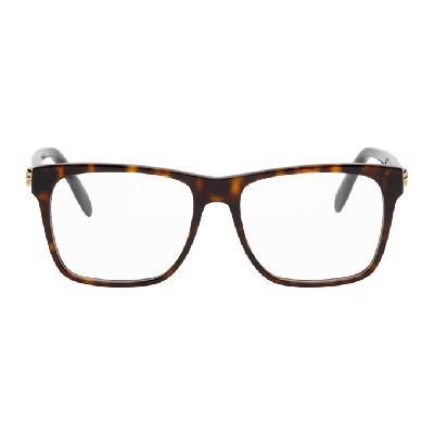 Alexander McQueen Tortoiseshell Square Glasses