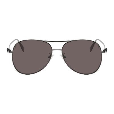 Alexander McQueen Black Aviator Sunglasses