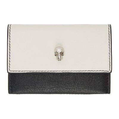 Alexander McQueen SSENSE Exclusive Off-White & Black Envelope Card Holder