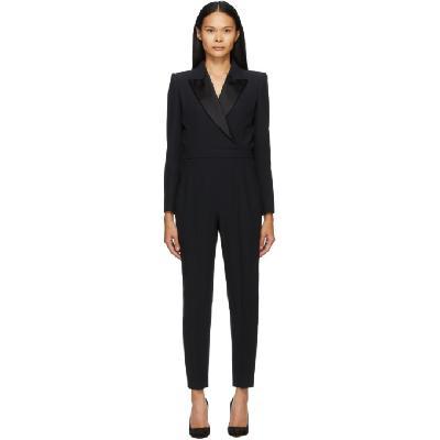 Alexander McQueen Black Tuxedo Tailored Jumpsuit