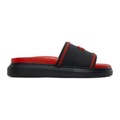 Alexander McQueen Black & Red Hybrid Logo Slides