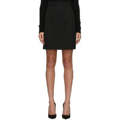 Alexander McQueen Black Virgin Wool Kickback Skirt