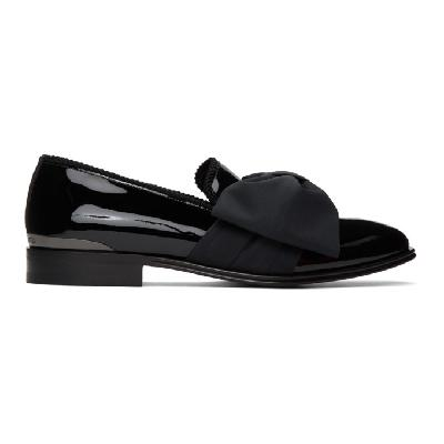Alexander McQueen Black Patent Bow Loafers