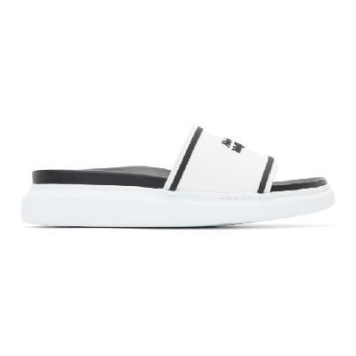 Alexander McQueen White & Black Oversized Hybrid Signature Slides