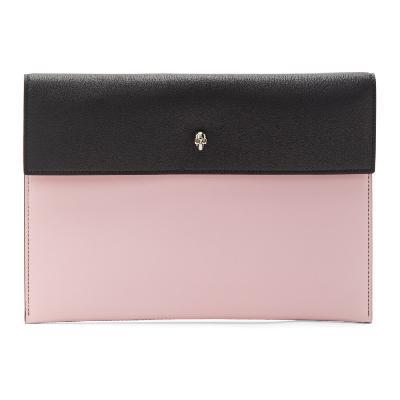 Alexander McQueen Black & Pink Envelope Skull Pouch