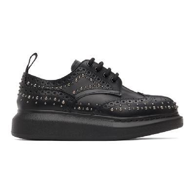 Alexander McQueen Black Leather Stud Brogues