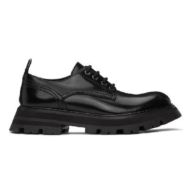 Alexander McQueen Black Wander Lace-Up Loafers