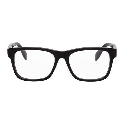 Alexander McQueen Black & White Square Glasses