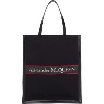 Alexander McQueen Black & Red Selvedge Tote
