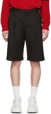 Alexander McQueen Black Gabardine Shorts