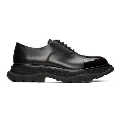 Alexander McQueen Black Tread Derbys