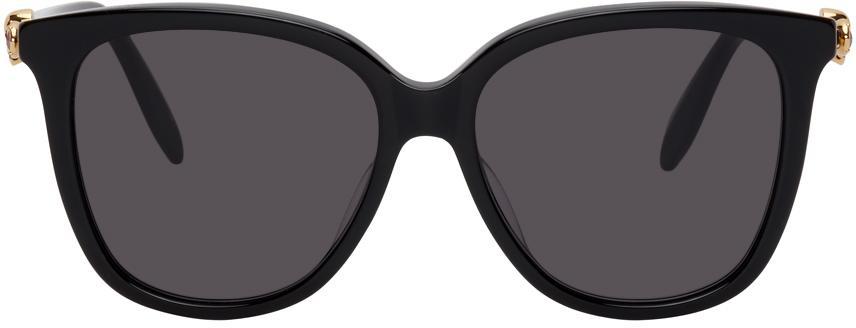 Alexander McQueen Black Skull Droplets Sunglasses