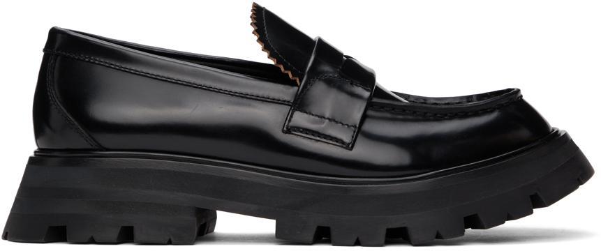 Alexander McQueen Black Wander Loafers