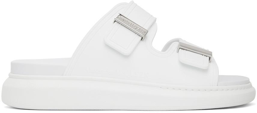 Alexander McQueen White Hybrid Sandals
