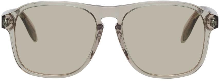 Alexander McQueen Pink & Green Square Sunglasses