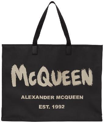 Alexander McQueen Black East West Graffiti Tote
