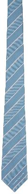 Alexander McQueen Blue & Pink Silk Ruled Logo Tie