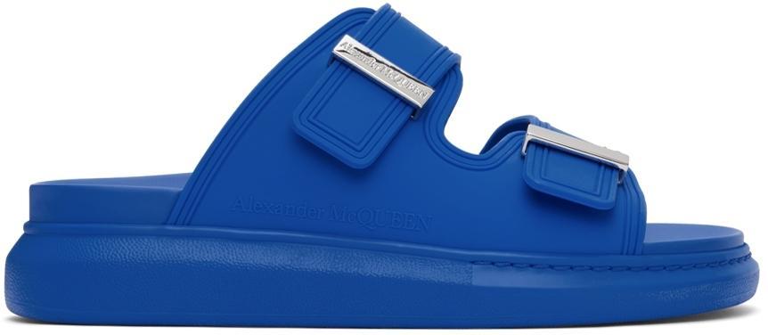 Alexander McQueen Blue Hybrid Sandals