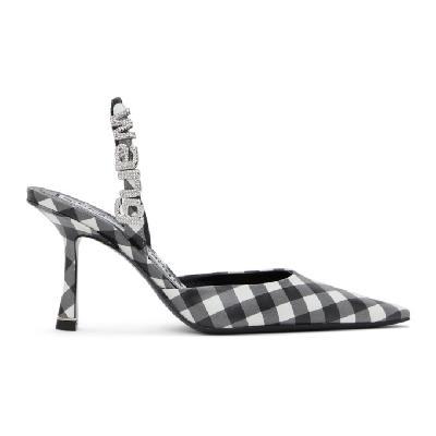 Alexander Wang Black & White Gingham Grace Slingback Heel