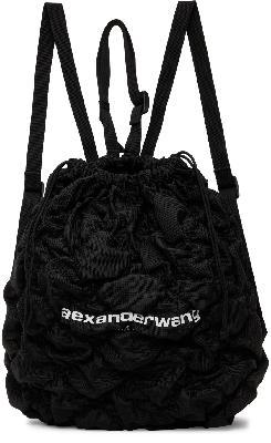 Alexander Wang Black Ruched Rebound Backpack