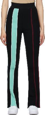 AMBUSH Black Cotton Rib Knit Lounge Pants