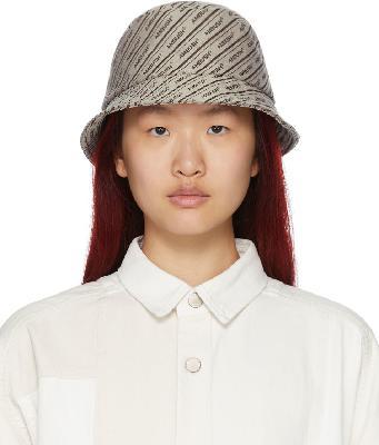 AMBUSH Beige Canvas Logo Bucket Hat